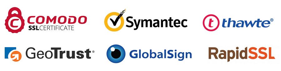 COMODO、Symantec、Thawte、Geotrust、GlobalSign、RapidSSL