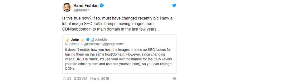 域名對圖片SEO沒有影響
